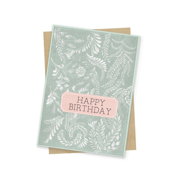 Birthday Flora Mini Card