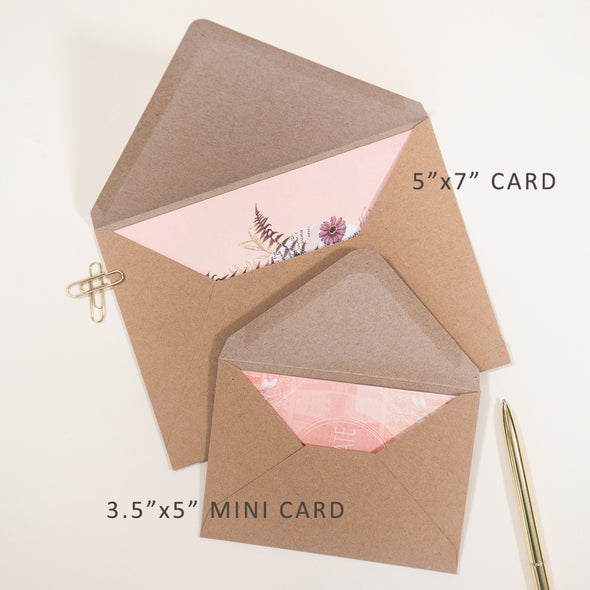 Love to love you mini greeting card size comparison
