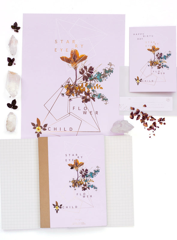 flower child art print and stationery