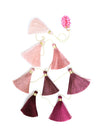 Tassel Tier Drop, Ombre Dusty Rose (Vertically Hanging)