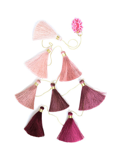 Tassel Tier Drop, Ombre Dusty Rose