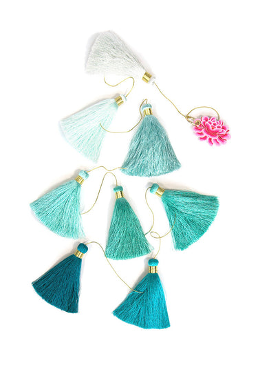 Tassel Tier Drop, Ombre Sea Spray