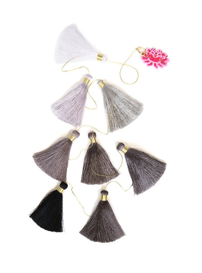 Tassel Tier Drop, Ombre Pebbles (Vertically Hanging)