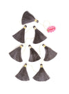 charcoal tassel tier drop garland all