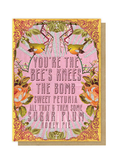 bee's knees greeting card front