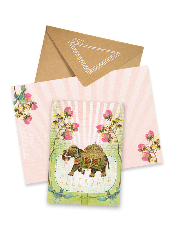 fancy elephant greeting card collage