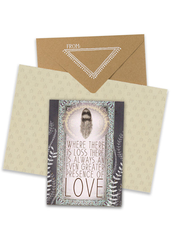 presence of love greeting card collage