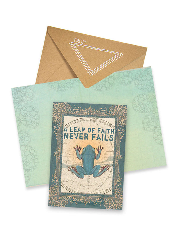 leap of faith greeting card collage