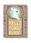 hello honey bunny greeting card front