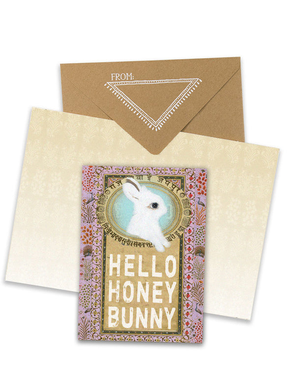 hello honey bunny greeting card collage