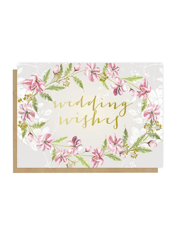 wedding wishes greeting card front