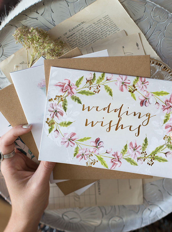 Greeting Card, Watercolor Wedding