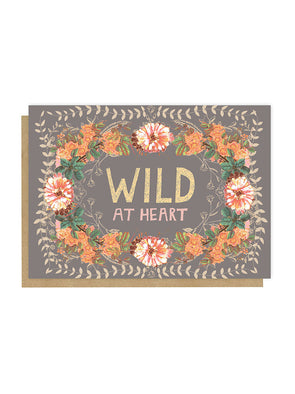 wild at heart Greeting card front