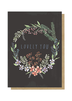 lovely you greeting card front