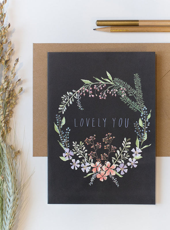 lovely you greeting card collage