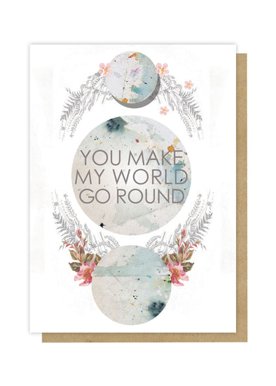 world go round greeting card front