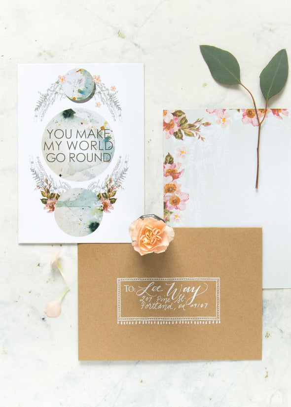 Greeting Card, World Go Round
