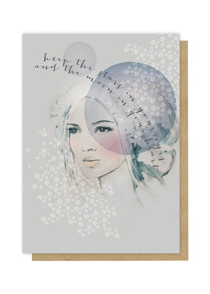 starry eyes greeting card