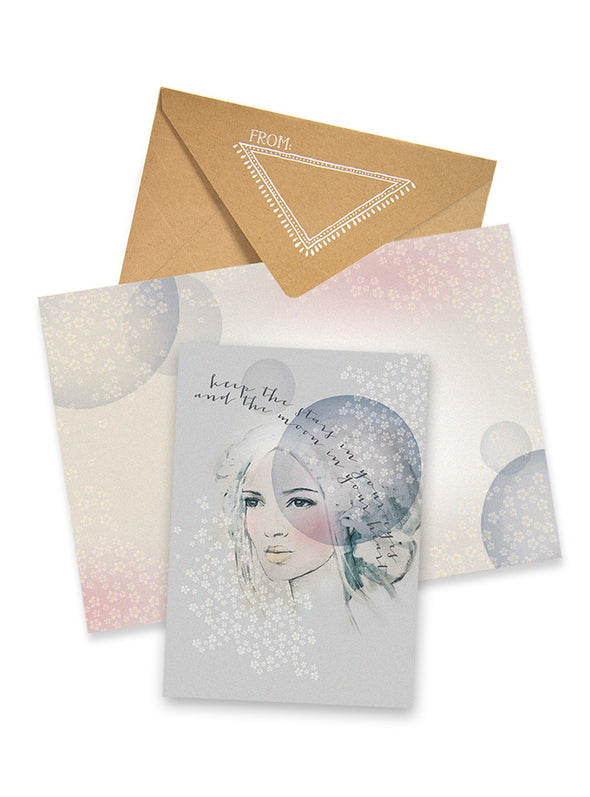 starry eyes greeting card collage