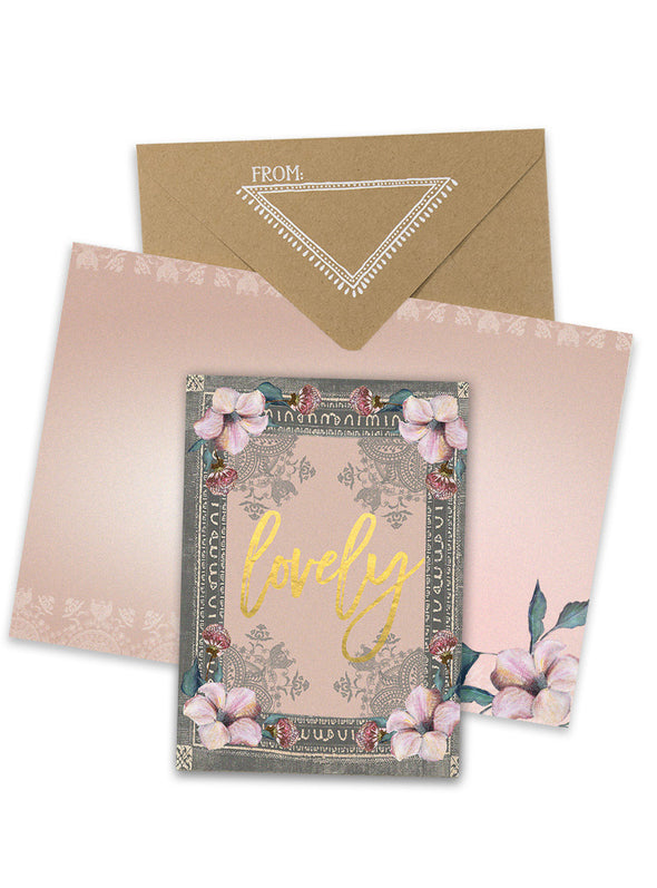 Greeting Card, Lovely Floral