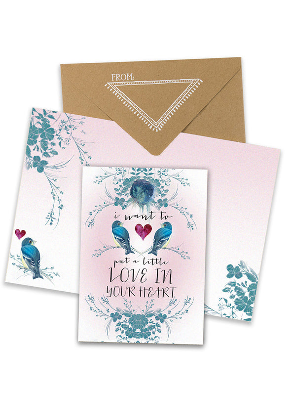 love in your heart greeting card collage with envelope