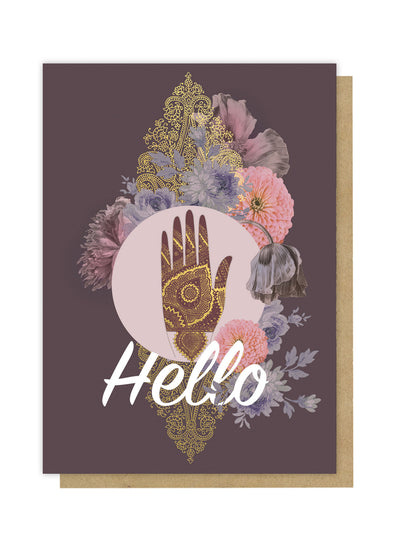hamsa hand greeting card front