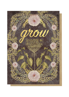 grow greeting card front