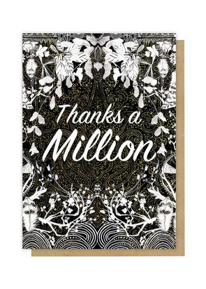 million moon thank you greeting card