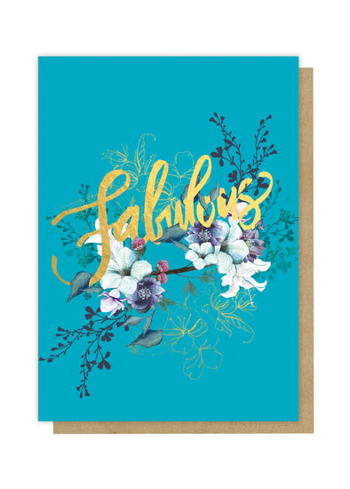 jewel flower fabulous greeting card