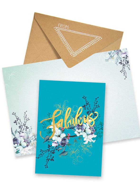 Greeting Card, Jewel Flower