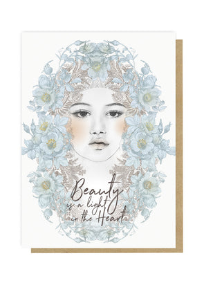 beauty light greeting card front