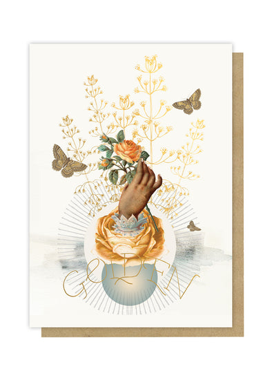golden greeting card front