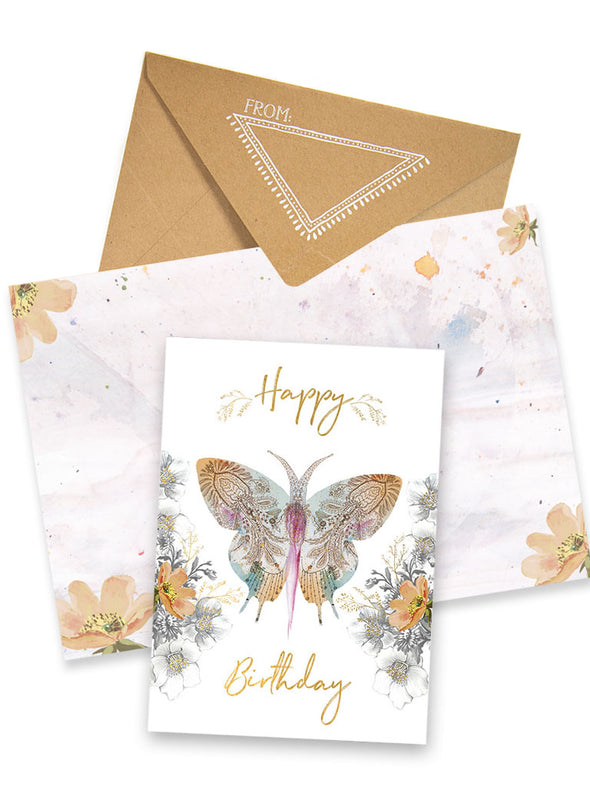 Greeting Card, Paisley Butterfly