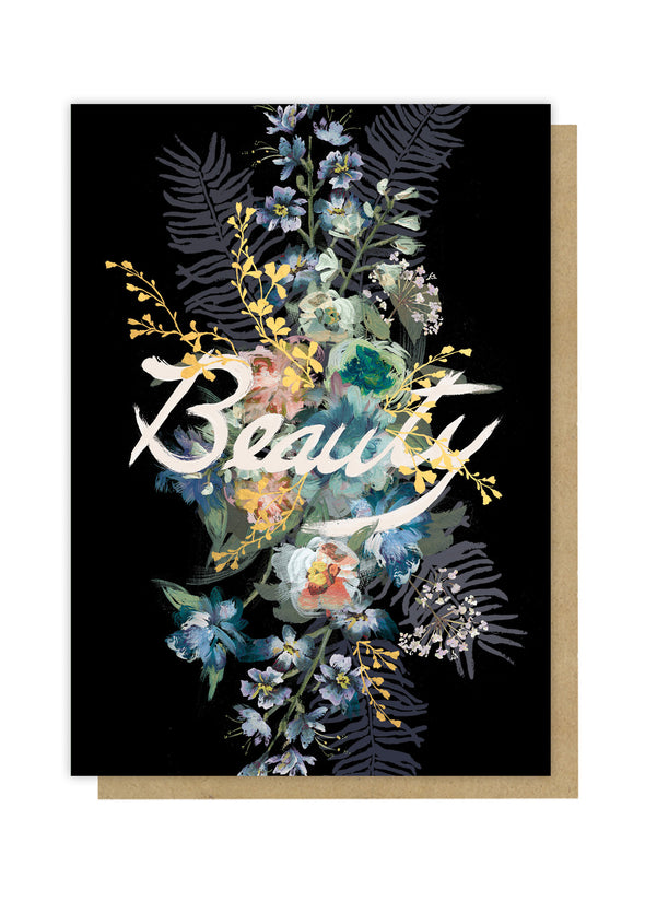 beauty bouquet greeting card front