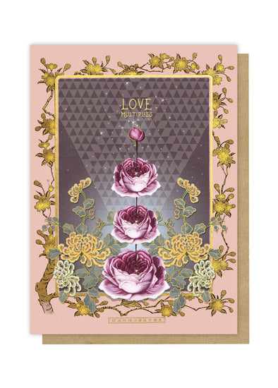 love multiplies greeting card front