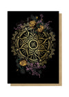 golden mandala greeting card