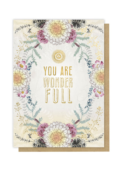 Wonder full greeting card front