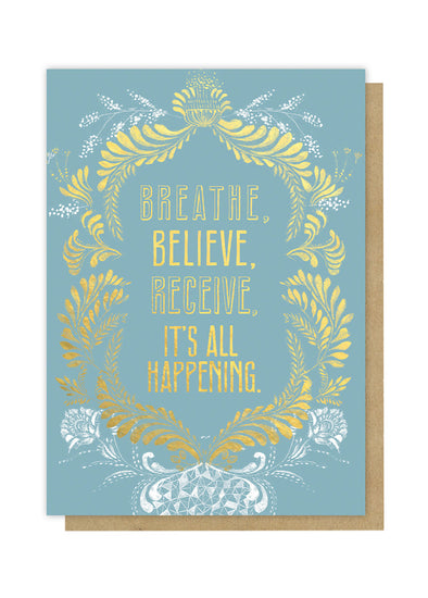 Breathe Believe Greeting Card