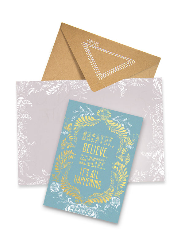 Greeting Card, Breathe Believe