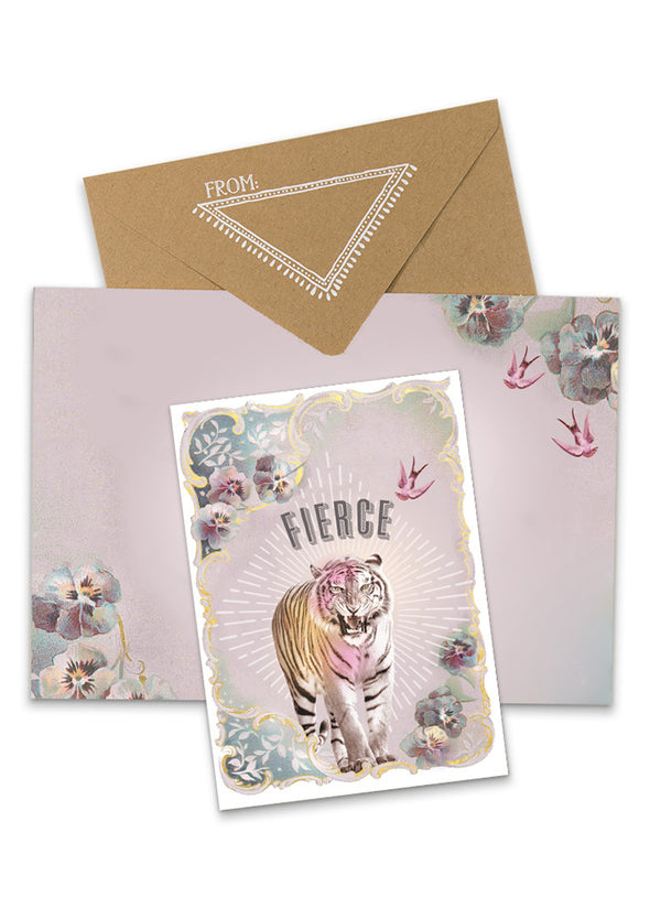 Fierce Greeting Card with envelope