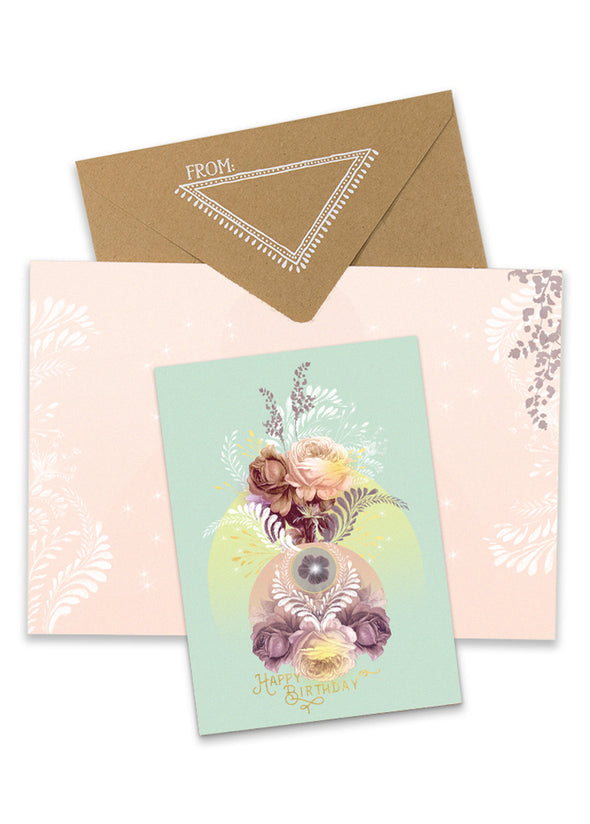 Solar Blooms Greeting Card with envelope