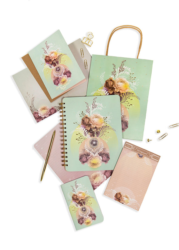 solar blooms stationery set