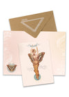 Butterly Woman Greeting Card with envelope