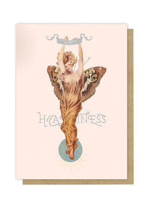 Butterly Woman Greeting Card