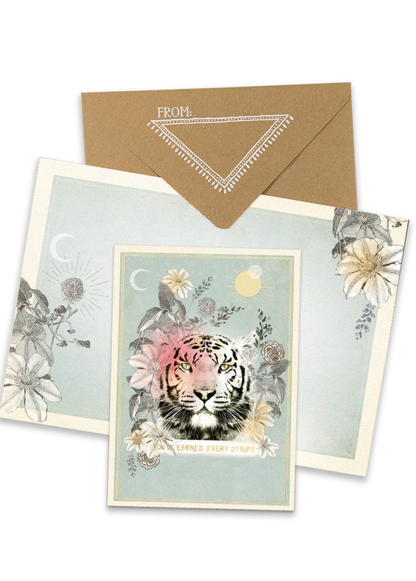 Tiger Stripes Greeting Card with envelope