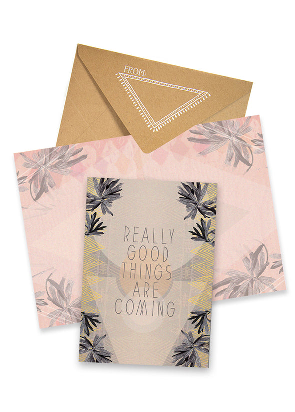 Good Things Greeting Card with envelope