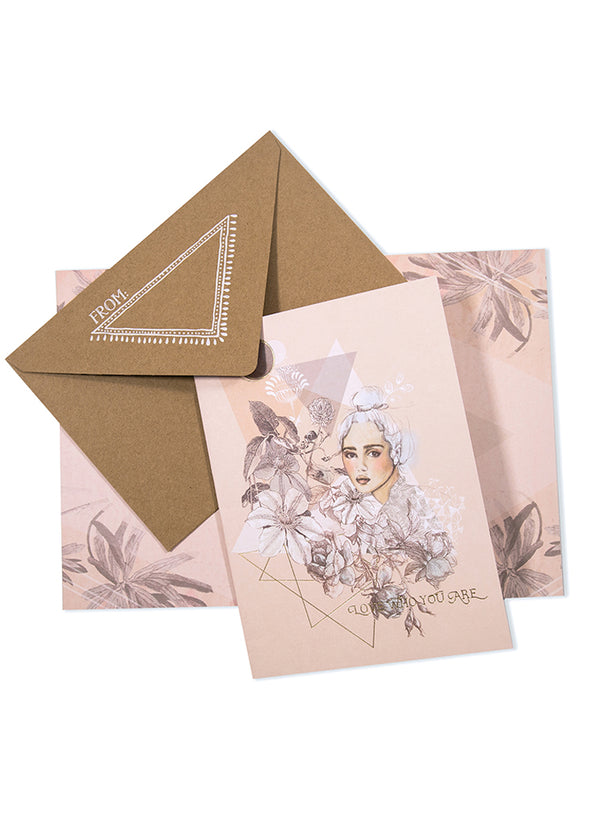 Greeting Card, Top Knot