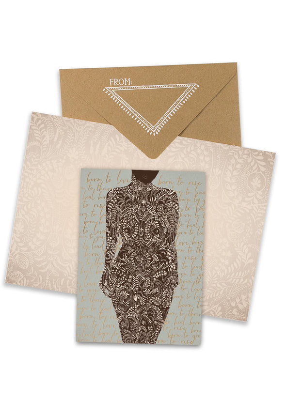 Greeting Card, Living Woman