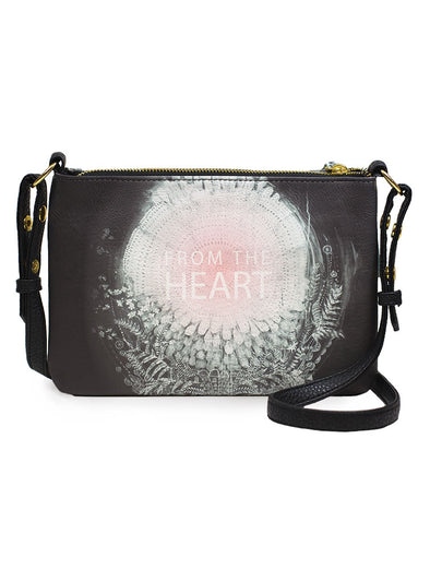 from the heart crossbody bag front