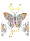 Thank You Boxed Card Set, Paisley Butterfly